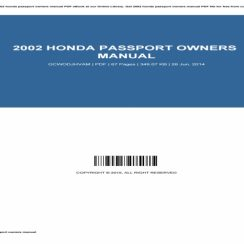 2014 Honda Passport Owners Manual