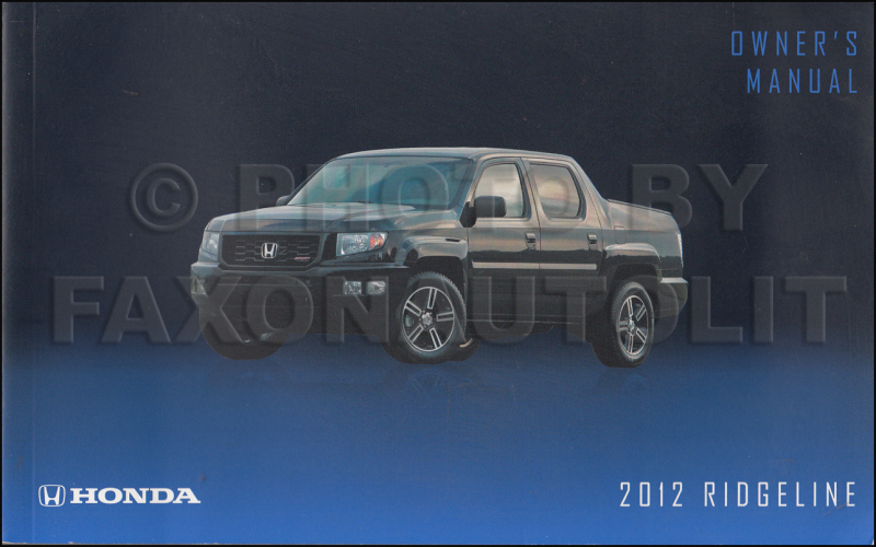2014 Honda Ridgeline Owners Manual