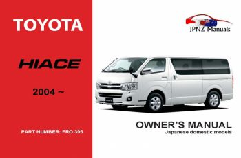 2014 Toyota Hiace Owners Manual