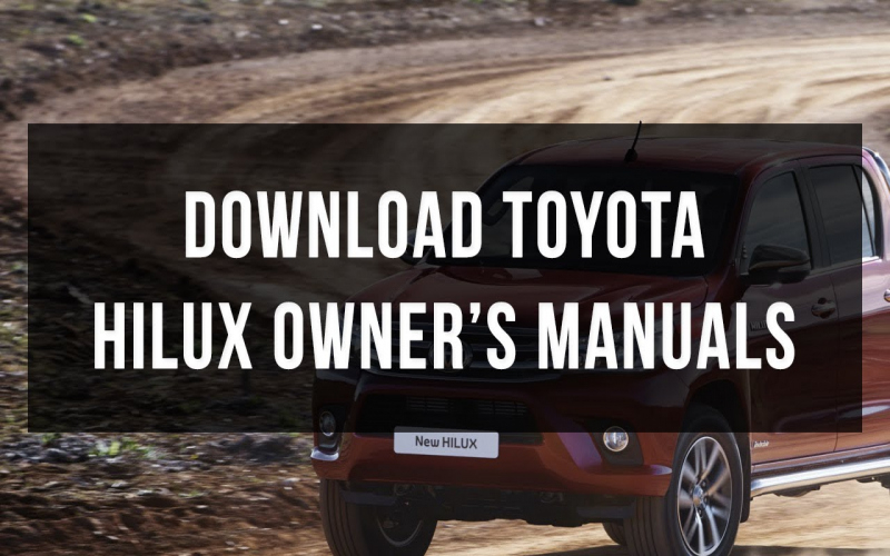 2014 Toyota Hilux Owners Manual