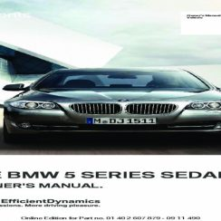 2015 BMW 5 Series Owners Manual
