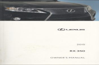 2015 Lexus RX 450H Owners Manual