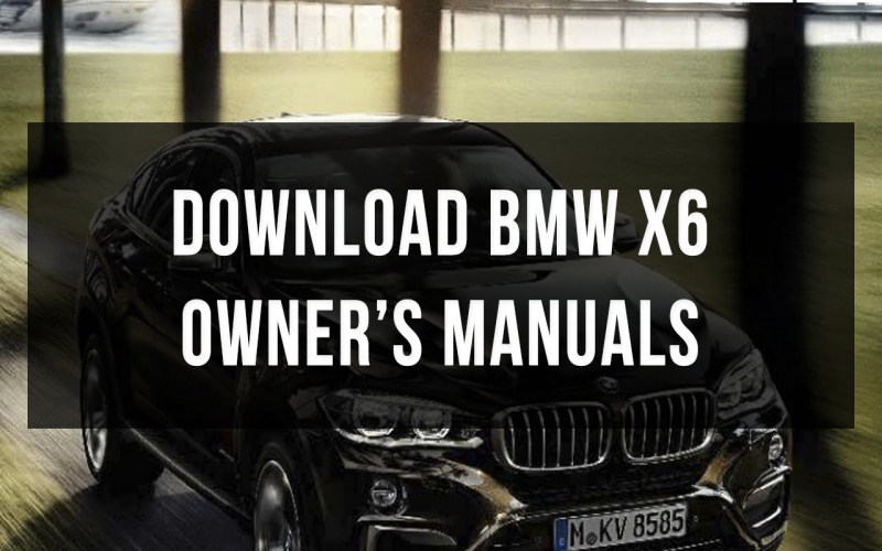 2016 BMW X6 Owners Manual