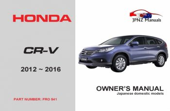 2016 Honda CRV Owners Manual