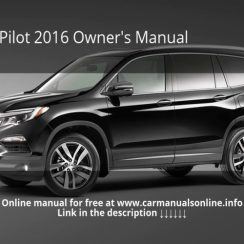 2016 Honda Pilot Owners Manual