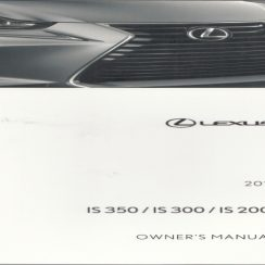 2016 Lexus IS 200T Owners Manual