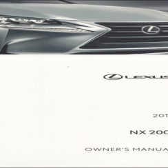 2016 Lexus NX 200T Owners Manual