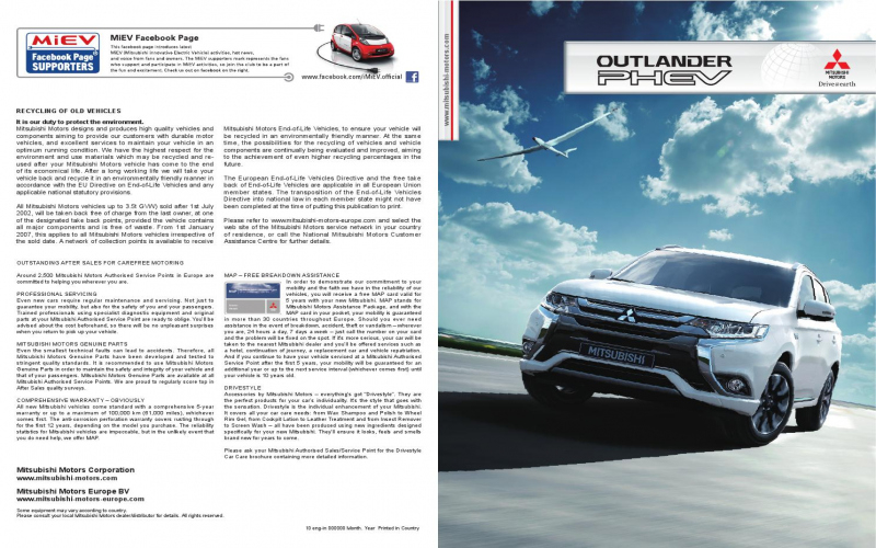 2016 Mitsubishi Outlander Owners Manual