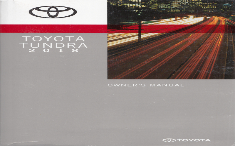2016 Toyota Tundra Owners Manual