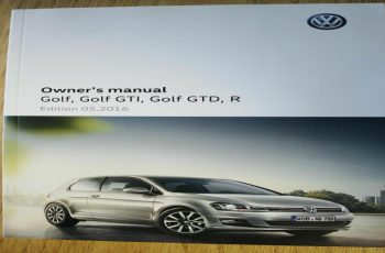 2016 VW Golf Owners Manual