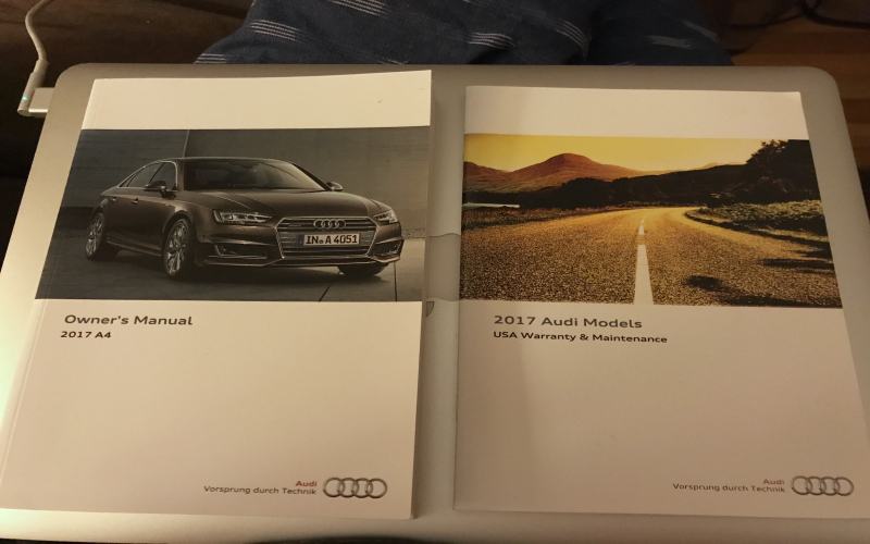 2017 Audi A4 Owners Manual