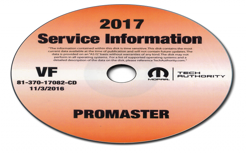 2017 Dodge Promaster Owners Manual