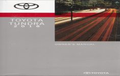 2017 Toyota Tundra Owners Manual