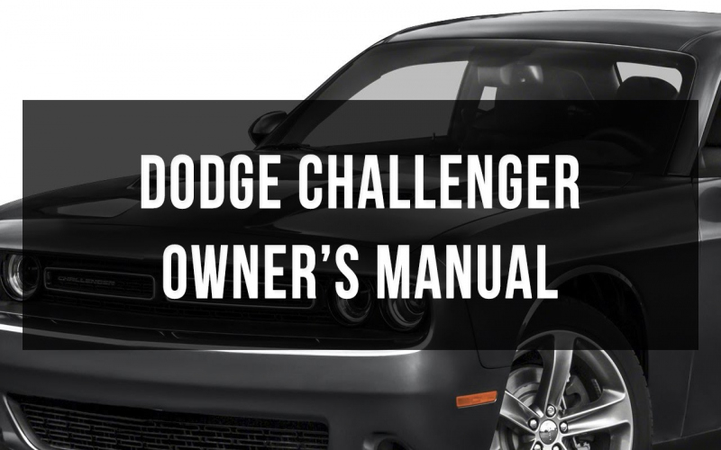 2018 Dodge Challenger Owners Manual PDF