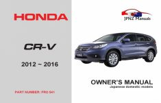 2018 Honda CRV Owners Manual