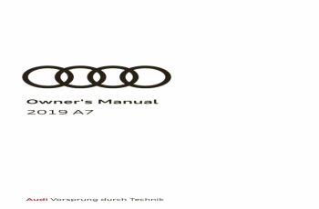 2019 Audi RS7 Owners Manual