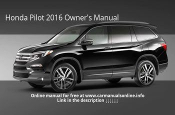 2019 Honda Pilot Owners Manual