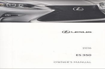 2019 Lexus ES 350 Owners Manual