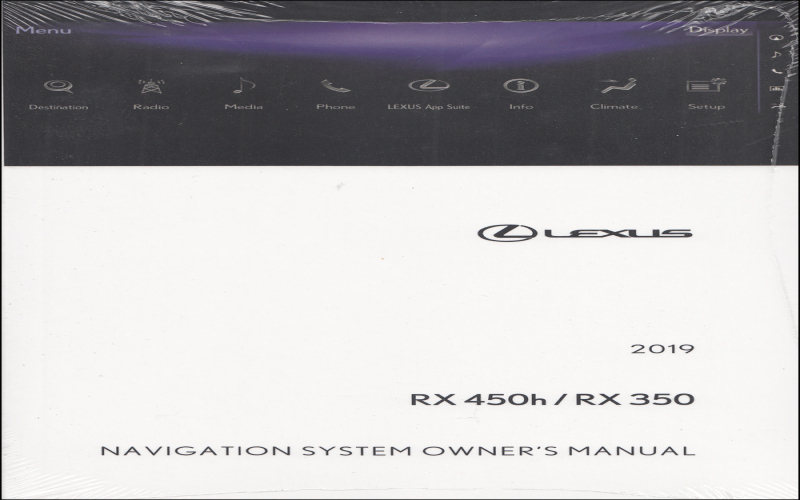 2019 Lexus RX 450H Owners Manual