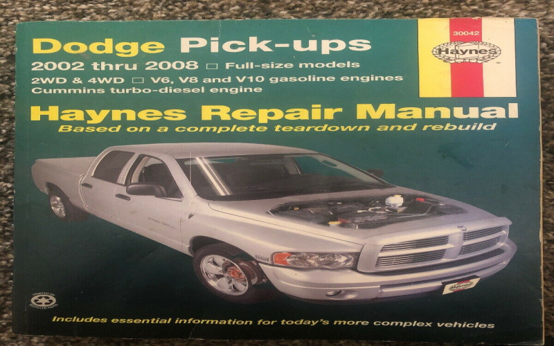 Owners Manual For 2007 Dodge RAM 3500