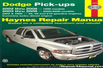 Owners Manual For 2008 Dodge RAM 1500