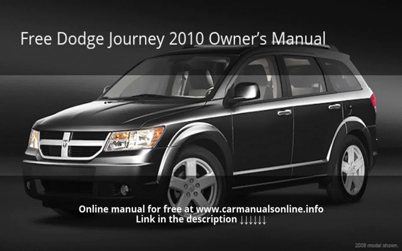 Owners Manual For a 2009 Dodge Journey SXT
